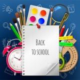 Recepción de nuevo a la escuela, ejemplo EPS 10 fotos de archivo libres de regalías