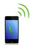 Recepción de un teléfono del cel de la llamada de teléfono Imagenes de archivo