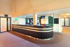 Recepción del hotel Imagen de archivo