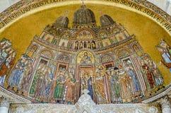 Recepción del mosaico del cuerpo del ` s de St Mark, Venecia Foto de archivo