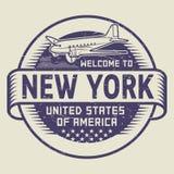 Recepción del sello a Nueva York, Estados Unidos ilustración del vector