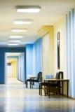Recepción en hospital con el pasillo Fotografía de archivo libre de regalías