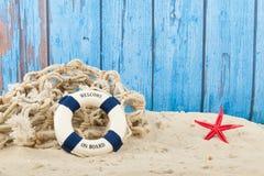 Recepción en la playa Foto de archivo libre de regalías