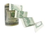 Recepción en tarjeta del dinero imagen de archivo