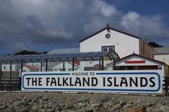 Recepción a Falkland Islands Fotos de archivo