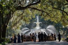 Recepción festiva meridional en la sabana, GA Foto de archivo