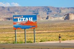 Recepción a la cartelera de Utah Fotografía de archivo libre de regalías