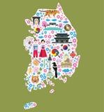 Recepción a la Corea del Sur stock de ilustración