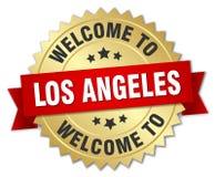 recepción a la insignia de Los Ángeles stock de ilustración