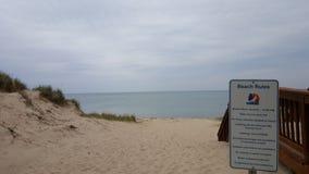 Recepción a la playa Imágenes de archivo libres de regalías