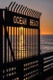 Recepción a la playa del océano Imagen de archivo