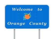 Recepción a la señal de tráfico del Condado de Orange ilustración del vector