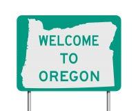 Recepción a la señal de tráfico de Oregon stock de ilustración
