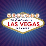Recepción a Las Vegas fabuloso stock de ilustración