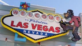 Recepción a Las Vegas fabuloso Nevada Imágenes de archivo libres de regalías