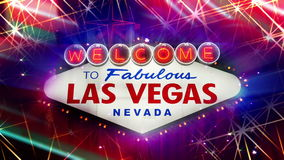 Recepción a Las Vegas fabuloso Nevada Sign (lazo) ilustración del vector