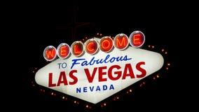 Recepción a Las Vegas fabuloso Nevada Sign (Loopable) almacen de metraje de vídeo