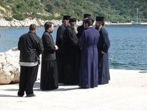 Recepción a los sacerdotes que visitan por un día de los santos Foto de archivo libre de regalías