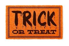 Recepción Mat Isolated de la naranja de Halloween del truco o de la invitación en blanco foto de archivo libre de regalías