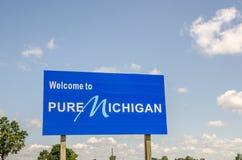 Recepción a Michigan puro Foto de archivo libre de regalías