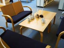 Recepción moderna de la sala de espera Imagen de archivo libre de regalías