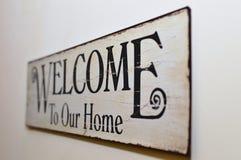 Recepción a nuestro hogar Imagen de archivo libre de regalías