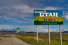 Recepción a Utah - vida elevada imagenes de archivo