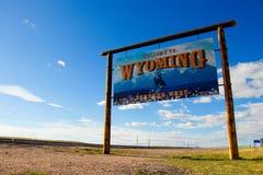 Recepción a Wyoming - para siempre al oeste foto de archivo libre de regalías