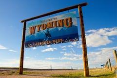 Recepción a Wyoming - para siempre al oeste fotografía de archivo