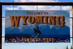 Recepción a Wyoming - para siempre al oeste imagenes de archivo