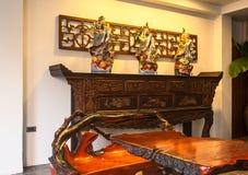 Recepción y piscina del hotel tailandés Imagen de archivo libre de regalías