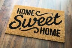 Recepción dulce casera Mat On Floor del hogar Fotografía de archivo
