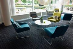Recepción moderna de la sala de espera Imagen de archivo