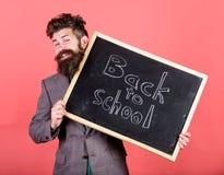 Recepciones del profesor o del director de escuela de nuevo a escuela Es usted alista estudio Prepare el año escolar del principi imagen de archivo