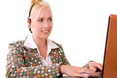 Recepcionista bonito Fotos de Stock Royalty Free