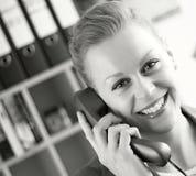 Recepcionista en el teléfono Imágenes de archivo libres de regalías