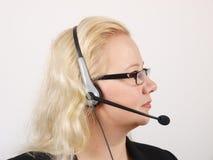 Recepcionista fêmea Imagem de Stock