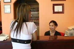 recepcjonistka obrazy royalty free