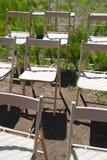 Recepcyjni ślubów krzesła Fotografia Stock