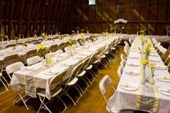Recepcyjni Obiadowi stoły Fotografia Royalty Free