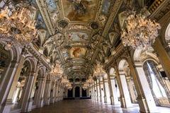 Recepcyjni pokoje urząd miasta, Paryż, Francja obrazy royalty free