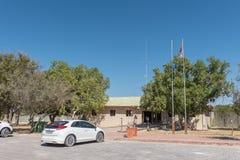 Recepcyjny biuro przy Namutoni Spoczynkowym obozem Zdjęcie Stock