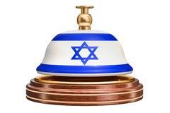 Recepcyjny dzwon z izraelita flaga, usługowy pojęcie świadczenia 3 d ilustracji