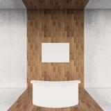 Recepcyjny wewnętrzny ciemny drewno Zdjęcia Royalty Free