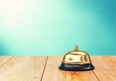 Recepion dzwon na biurku Obrazy Stock