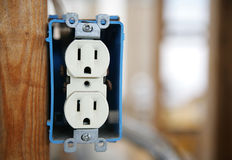 Receptáculo eléctrico Foto de archivo libre de regalías