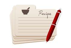 Recept Royaltyfri Bild