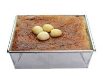 Recept för efterrätt för vaniljsås för Mung böna thailändskt Arkivbilder