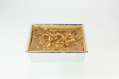 Recept för efterrätt för vaniljsås för Mung böna thailändskt Arkivfoton