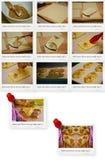 Recept van Ham en Kaasgebakjerookwolken Stock Foto
